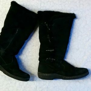 🔥💲 Suede black boots 36